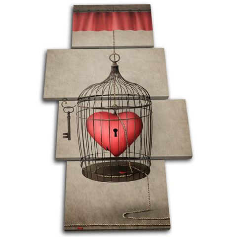 Heart Cage Red Love - 13-0108(00B)-MP04-PO